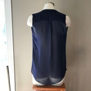 ASOS Tops - 🆕 ASOS Sheer Navy Blue Blouse Top 4 Small